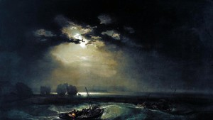 La Luna nell'arte - Pescatori in mare di William Turner (ANSA)