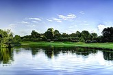 Un'immagine del Marco Simone Golf & Country Club, sede della Ryder Cup 2022 di Golf (ANSA)
