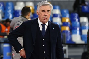 Napoli's head coach Carlo Ancelotti     during  italian Serie A  soccer  match between SSC Napoli and Bologna FC at the San Paolo stadium in Naples,  1 December 2019. (ANSA)