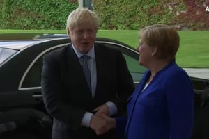 Germania-Inghilterra, Johnson a Berlino dalla Merkel (ANSA)